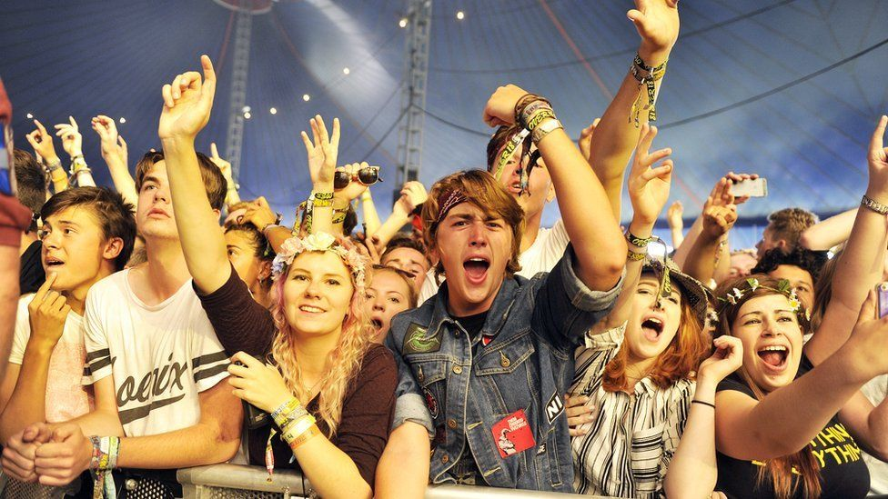 People at Reading Festival