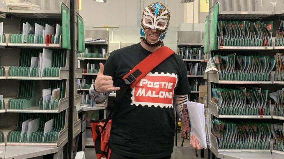 Glen Walton as a wrestler