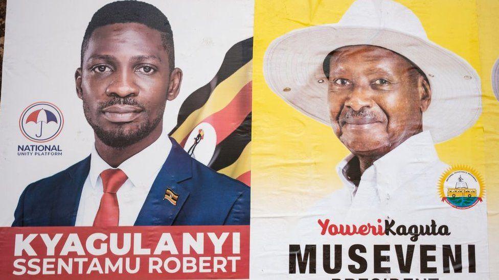 Bobi Wine and Yoweri Museveni