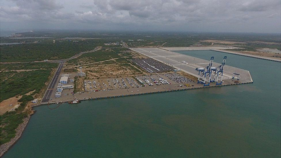Hambantota port from above