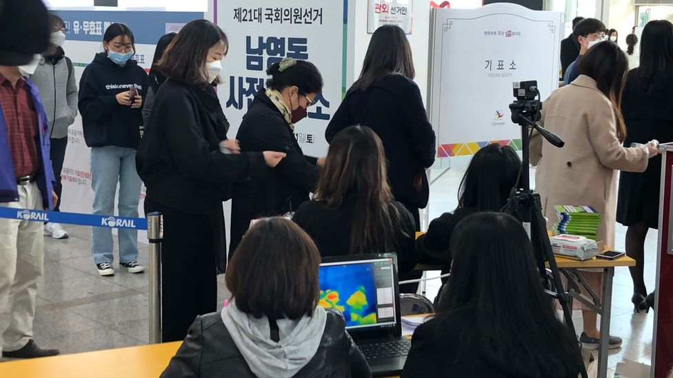 Voters in South Korea
