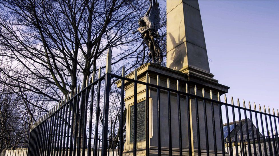 Rescue League memorial on Doncaster Road, Barnsley