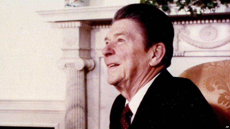 US President Ronald Reagan in 1981