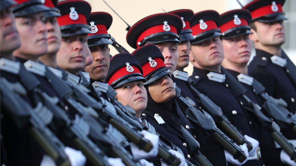 Cadets at Sandhurst