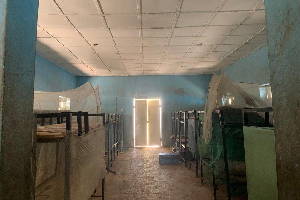 Interior of school dormitory