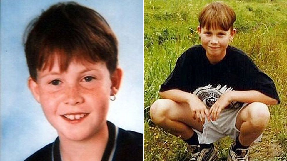A composite image shows two photos of Nicky Verstappen - on the left, a portrait, and on the right, a casual shot in a field of grass. He is about 11 years old, wearing an earring on his left ear, with a fringe haircut