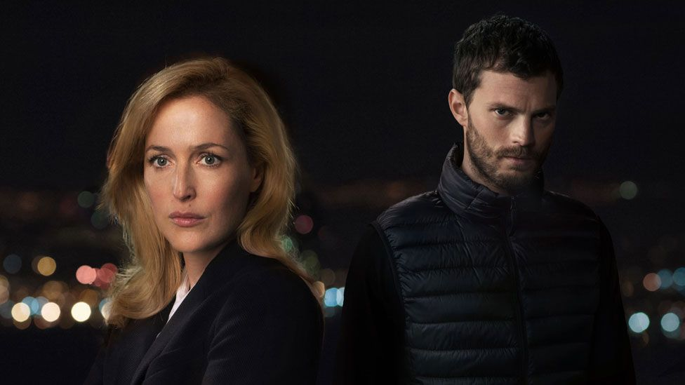 Gillian Anderson and Jamie Dornan in The Fall