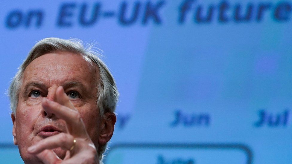 Michel Barnier setting out what the EU wants from trade talks