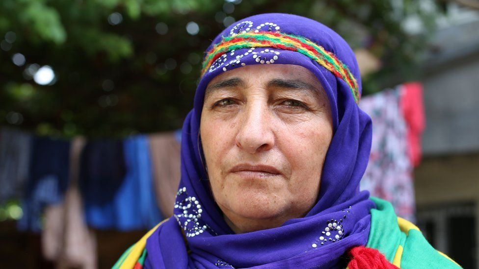 Distraught mother Emine