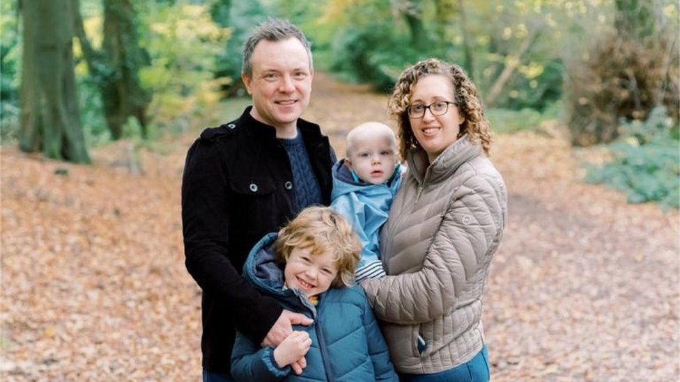 Gemma Marshall and her family