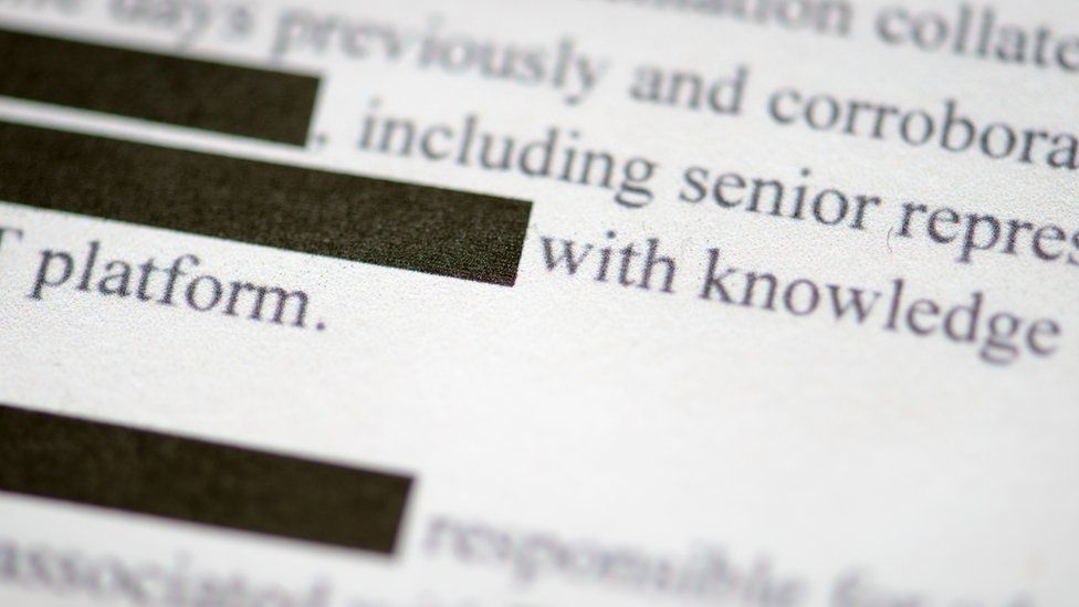 Image of a redacted document