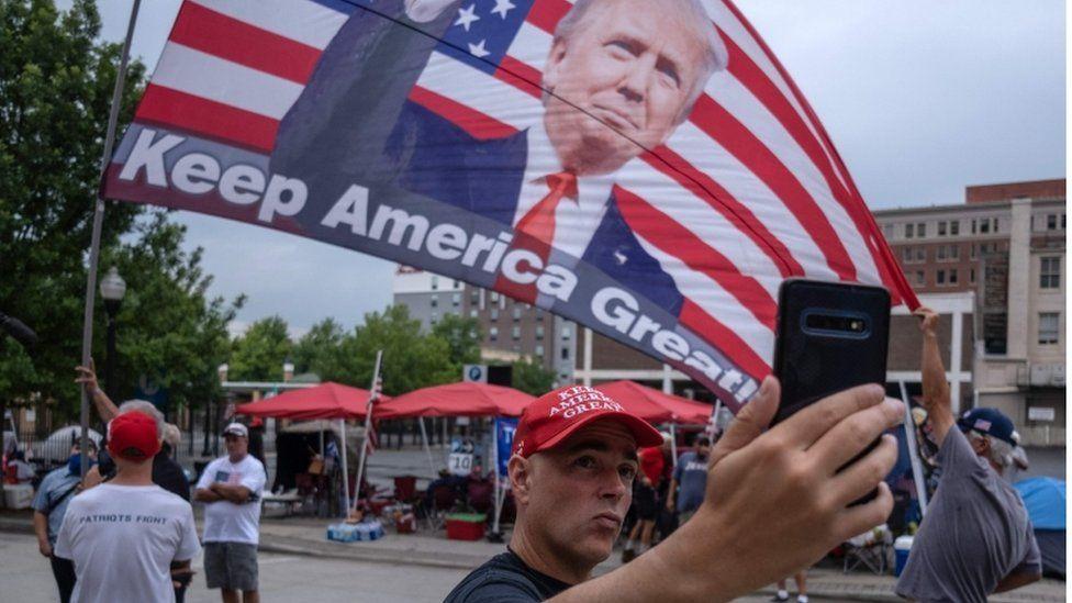 Trump supporters in Tulsa