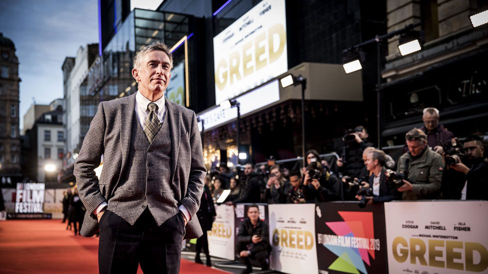 Steve Coogan at the London Film Festival premiere of Greed