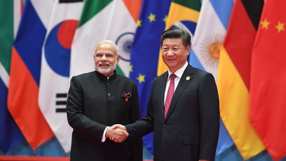 Indian PM Narendra Modi with China's President Xi Jinping at the G20 meeting in Hangzhou on September 4, 2016