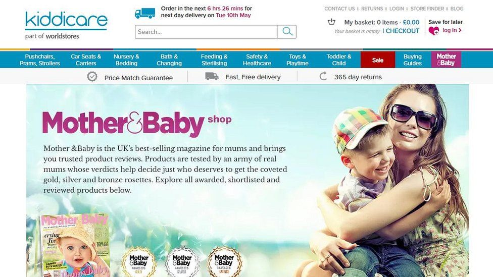 Kiddicare website