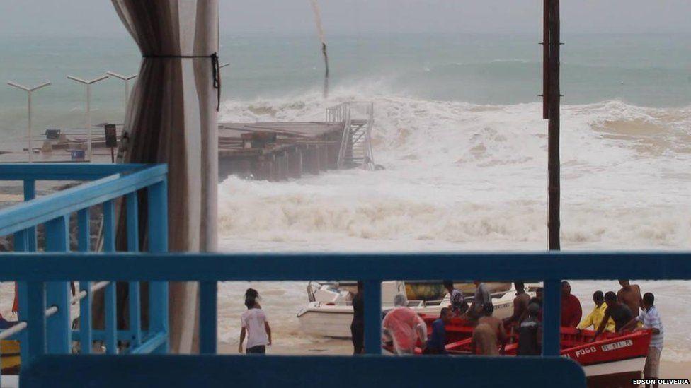 hurricane fred hits Cape Verde