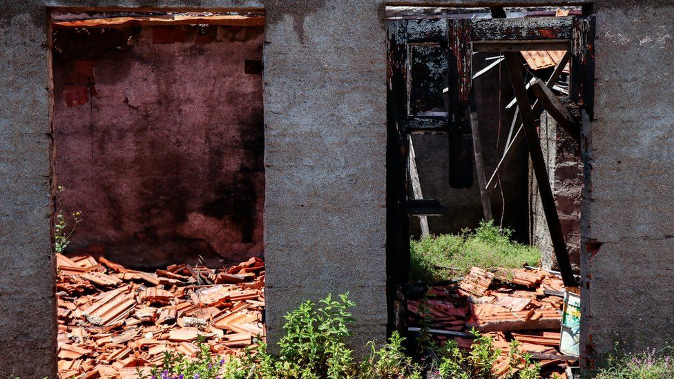 157 houses have been rebuilt but many are still derelict