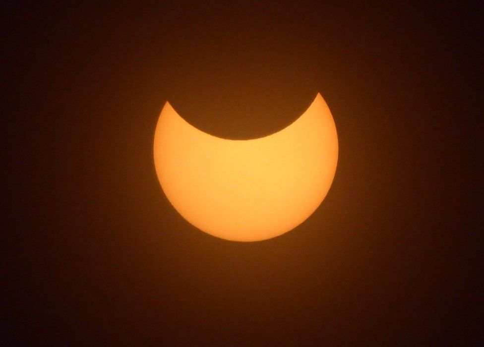 Eclipse from Daviot