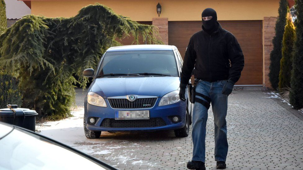 Police searched Antonino Vadala's house in Slovakia in March 2018