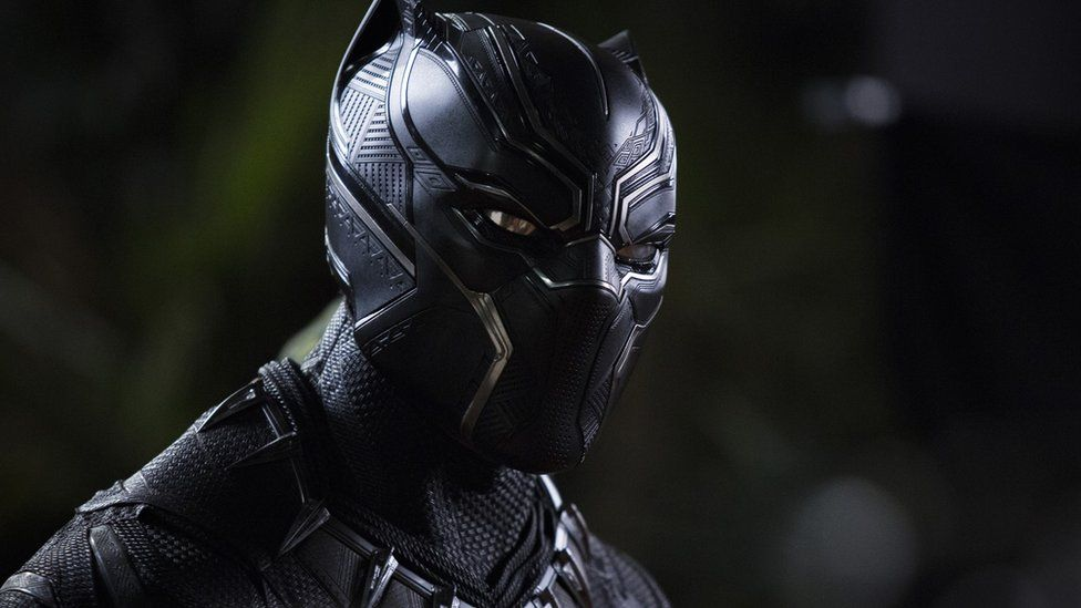 Black Panther masked in movie still
