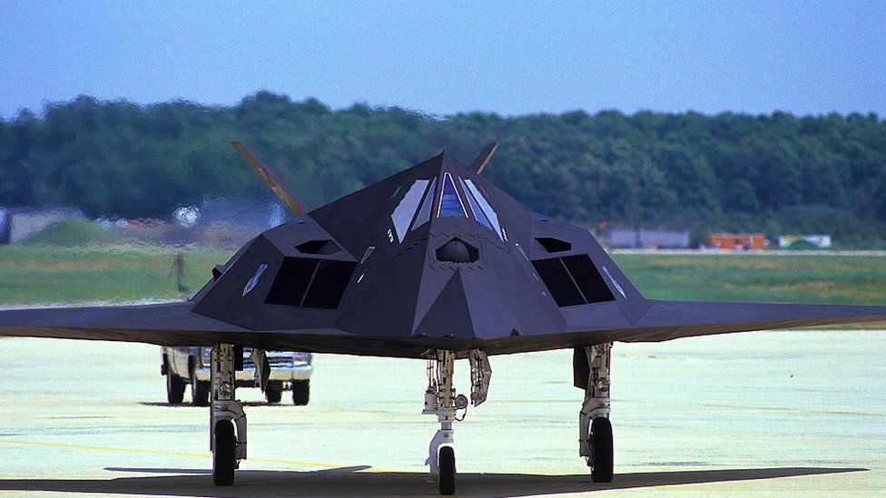An F-117 Stealth fighter