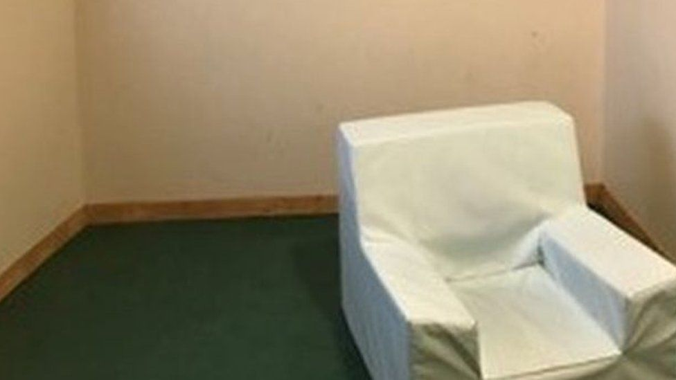 The seclusion room at Muckamore Abbey Hospital