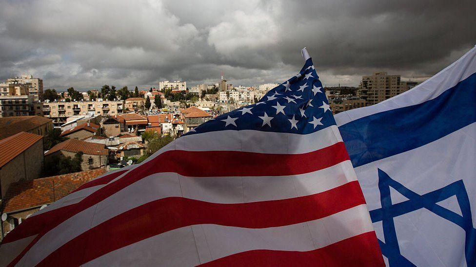 US & Israel flags