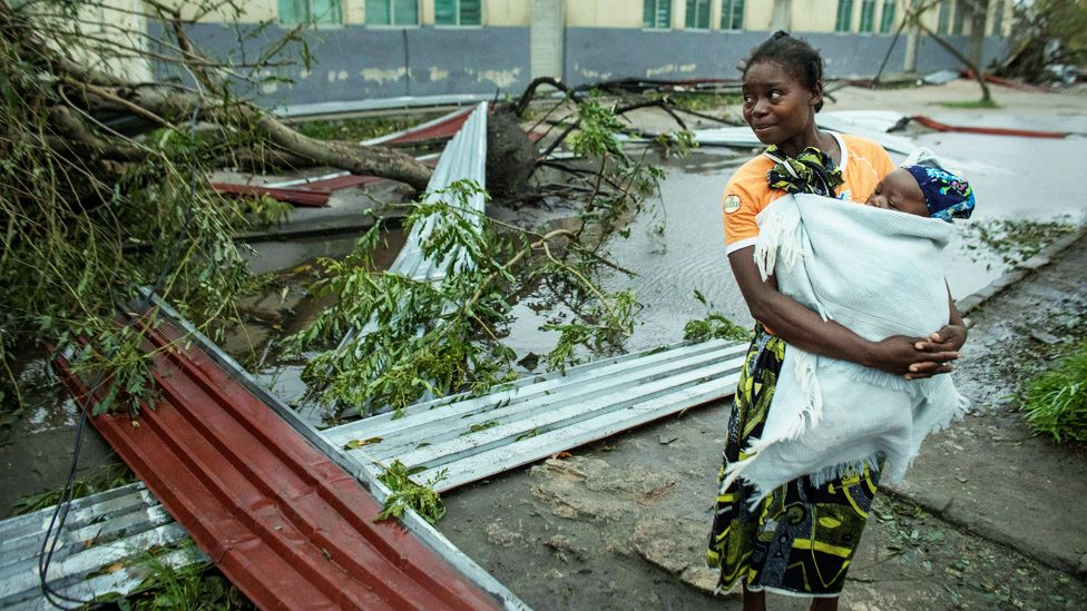 The aftermath of Cyclone Idai