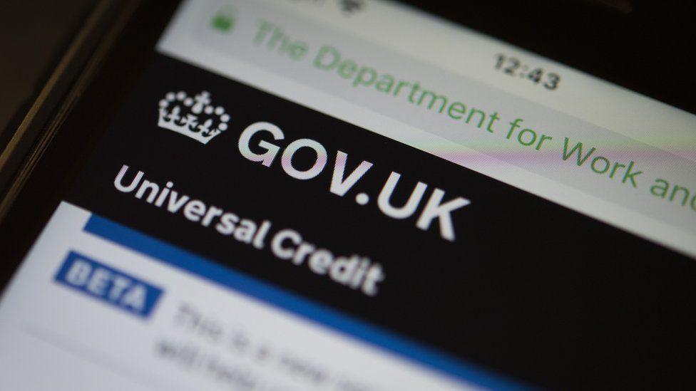 Universal credit website
