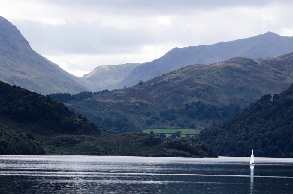 Hills above Ullswater in the Lake District, Cumbria