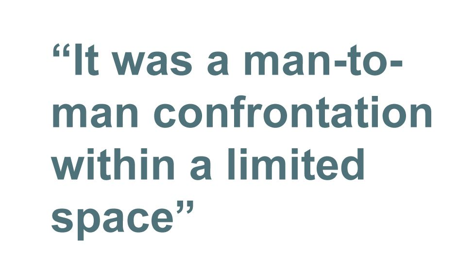 Quotebox: It was a man-to-man confrontation within a limited space