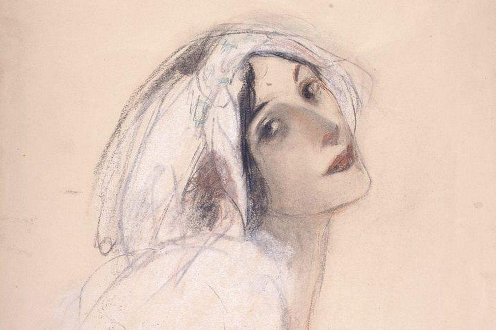 Anna Pavlova drawing