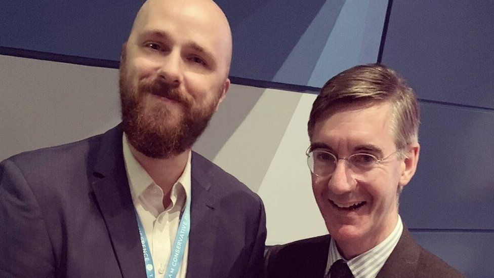 Kyle Pedley and Jacob Rees Mogg