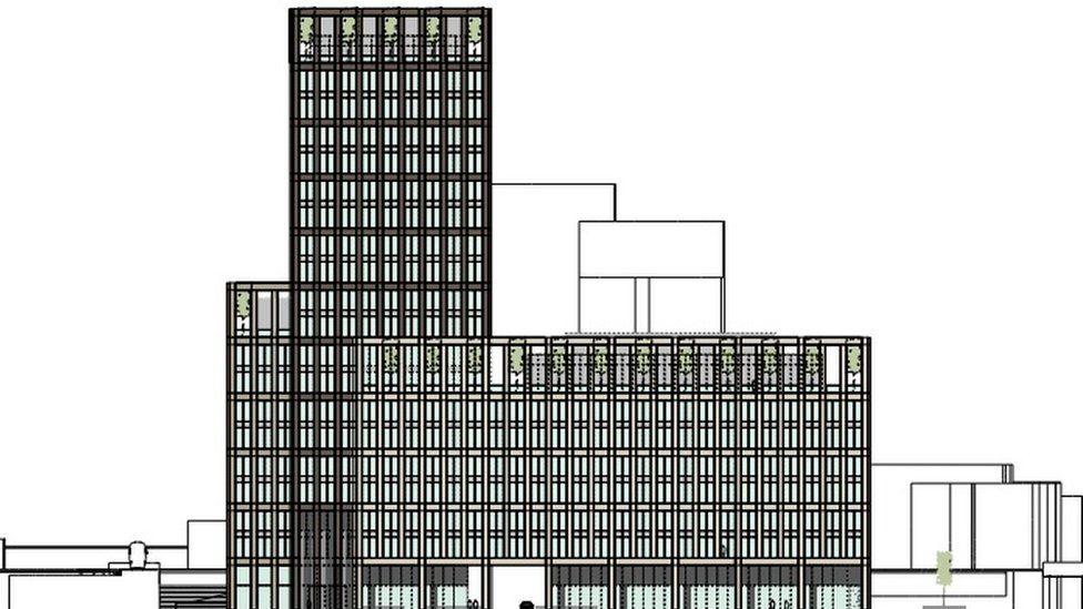 Planned 20-storey office block