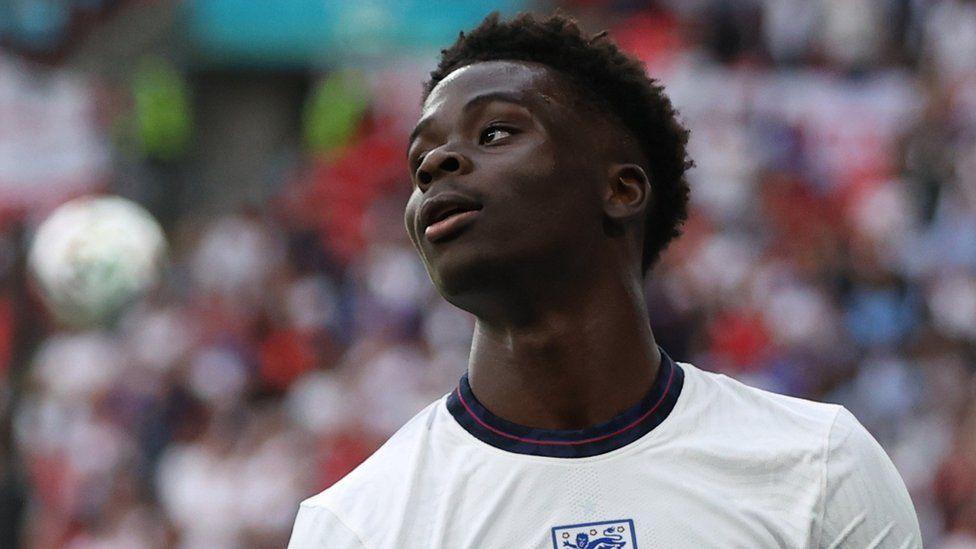 England v Germany - Wembley Stadium, London, Britain - June 29, 2021 England's Bukayo Saka