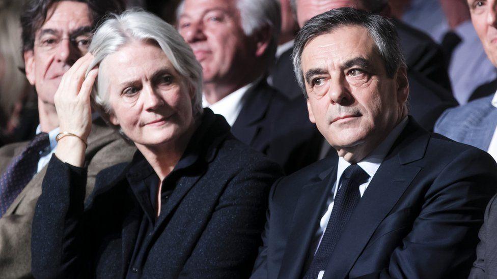 File pic of François Fillon with Penelope Fillon in April 2017