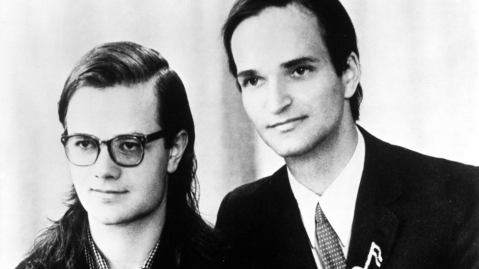 Ralf Hütter and Florian Schneider