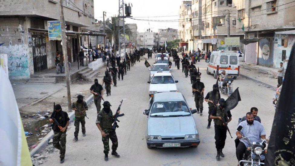 The al-Quds Brigade parade in 2012