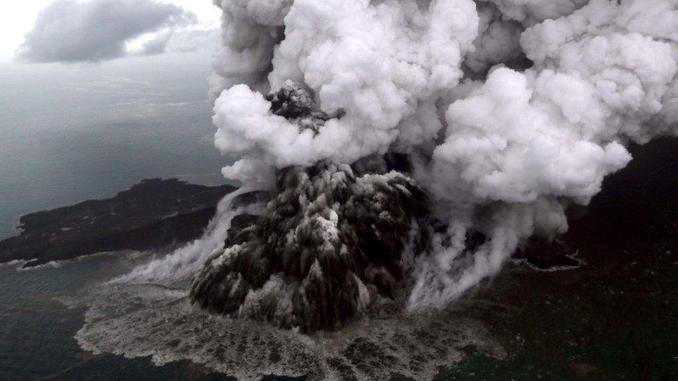 Anak Krakatau volcano. Photo: 23 December 2018
