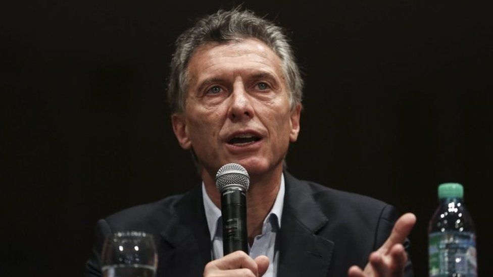 Argentine President-elect Mauricio Macri speaks during a press conference in Buenos Aires, Argentina, 23 November 2015.