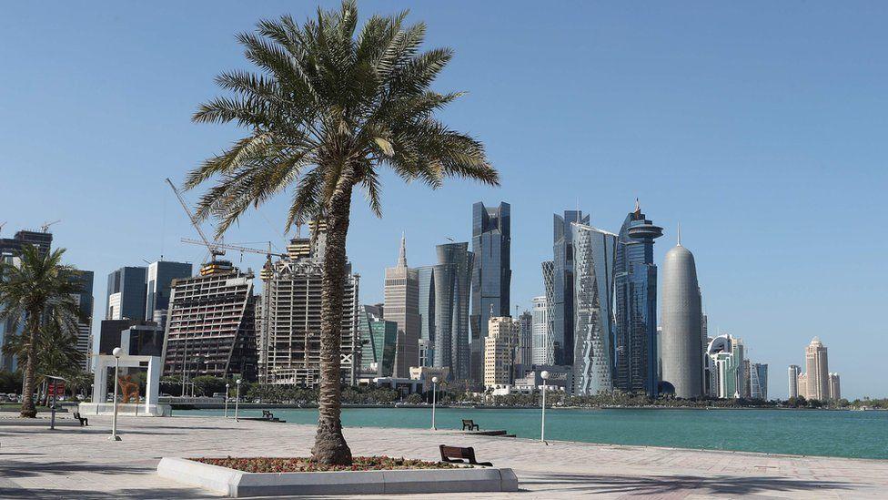 View from the corniche in Doha, Qatar