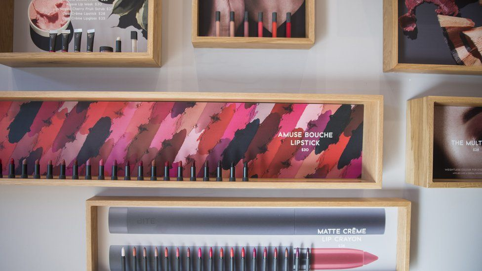 Products displayed in the Bite Lip Lab