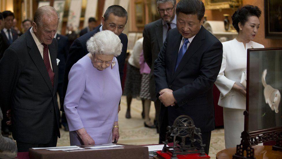 Duke of Edinburgh, Queen and President Xi of China