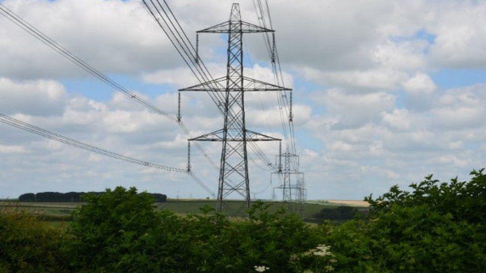 Pylons in Dorset