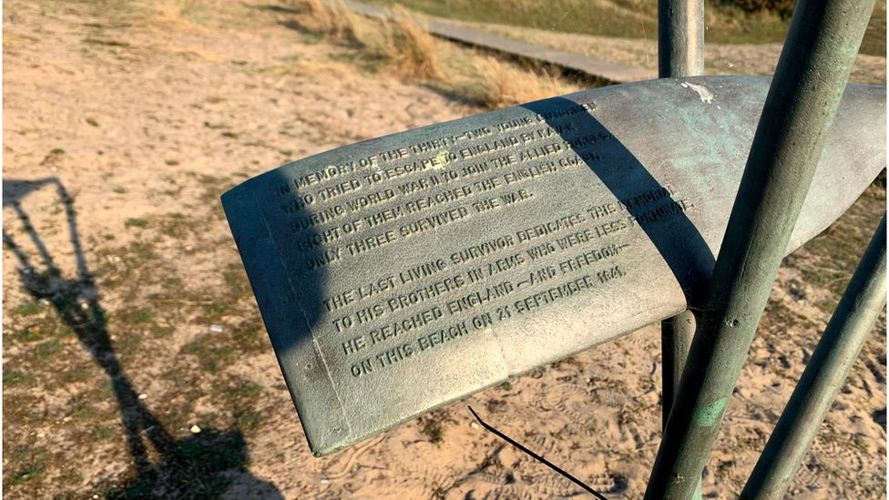 Paddle memorial at Sizewell