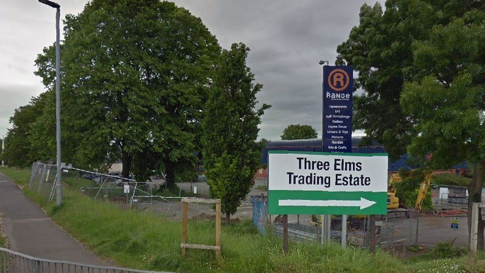 Sign for Three Elms