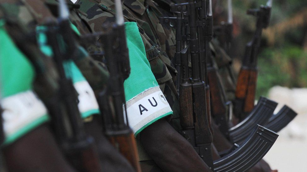African Union soldiers in Somalia - archive shot