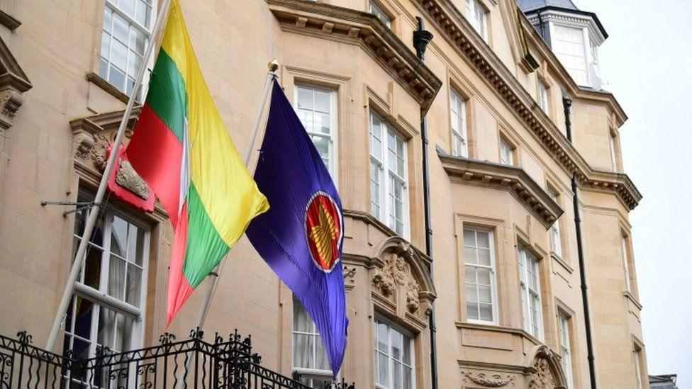 The Embassy of Myanmar in Mayfair, London,