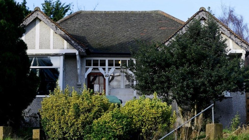 A view of the house in Erith, Kent, which is being searched by police officers in relation to the missing former Eastenders actress Sian Blake