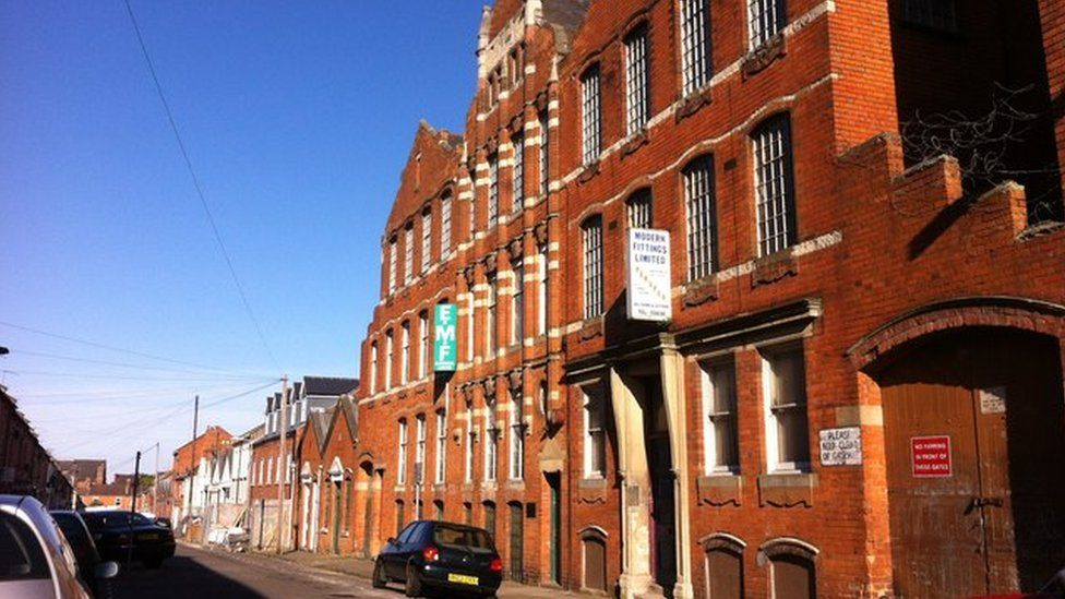 Globe Leather Works factory in Dunster Street, Northampton.